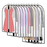 12 Stück Transparente Kleidersack Kleiderhüllen Abdeckung...