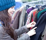 Mobiler Kleiderständer für den Flohmarkt